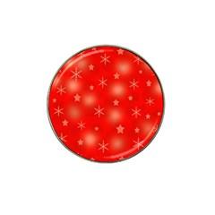 Red Xmas Desing Hat Clip Ball Marker by Valentinaart