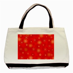 Red Xmas Desing Basic Tote Bag (two Sides) by Valentinaart
