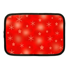 Red Xmas Desing Netbook Case (medium)  by Valentinaart