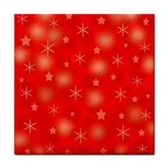 Red Xmas Desing Face Towel by Valentinaart