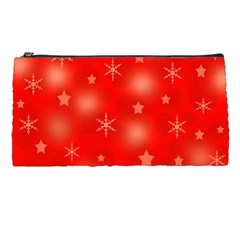 Red Xmas Desing Pencil Cases by Valentinaart