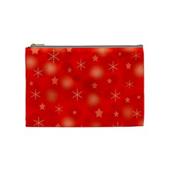 Red Xmas Desing Cosmetic Bag (medium)  by Valentinaart