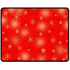Red Xmas Desing Fleece Blanket (medium)  by Valentinaart