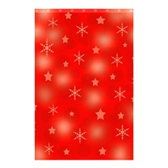 Red Xmas Desing Shower Curtain 48  X 72  (small)  by Valentinaart