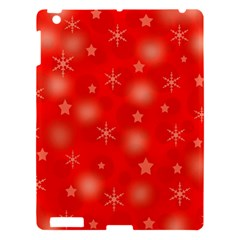 Red Xmas Desing Apple Ipad 3/4 Hardshell Case by Valentinaart