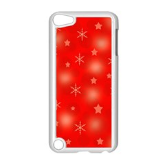 Red Xmas Desing Apple Ipod Touch 5 Case (white) by Valentinaart