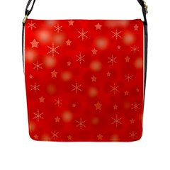 Red Xmas Desing Flap Messenger Bag (l)  by Valentinaart