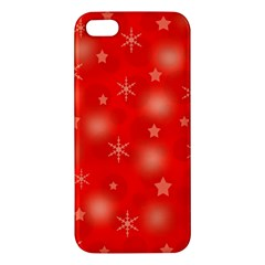 Red Xmas Desing Iphone 5s/ Se Premium Hardshell Case by Valentinaart