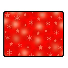 Red Xmas desing Double Sided Fleece Blanket (Small)  by Valentinaart