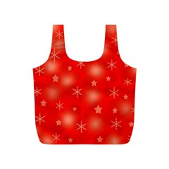 Red Xmas Desing Full Print Recycle Bags (s)  by Valentinaart