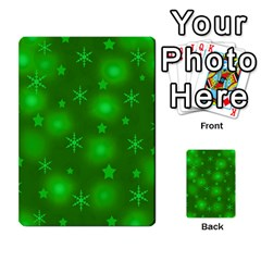 Green Xmas Design Multi Purpose Cards (rectangle)  by Valentinaart
