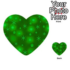 Green Xmas Design Multi Purpose Cards (heart)