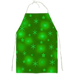 Green Xmas Design Full Print Aprons by Valentinaart