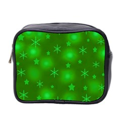 Green Xmas Design Mini Toiletries Bag 2 Side by Valentinaart