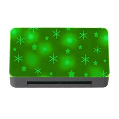 Green Xmas Design Memory Card Reader With Cf by Valentinaart