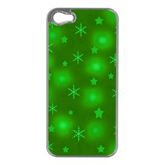 Green Xmas Design Apple Iphone 5 Case (silver) by Valentinaart