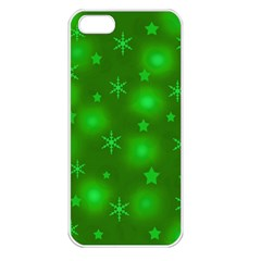 Green Xmas Design Apple Iphone 5 Seamless Case (white) by Valentinaart