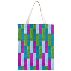 Textile Texture Purple Baby Blue Classic Light Tote Bag by Zeze
