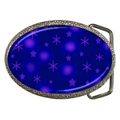 Blue Xmas Design Belt Buckles by Valentinaart