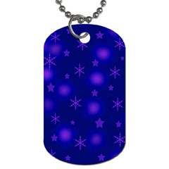 Blue Xmas Design Dog Tag (one Side) by Valentinaart