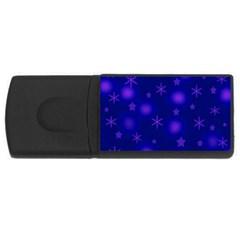 Blue Xmas design USB Flash Drive Rectangular (1 GB)  by Valentinaart