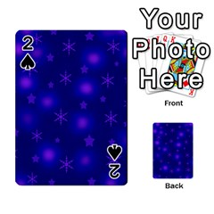 Blue Xmas Design Playing Cards 54 Designs  by Valentinaart