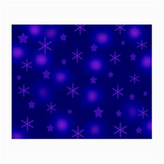 Blue Xmas Design Small Glasses Cloth (2 Side) by Valentinaart