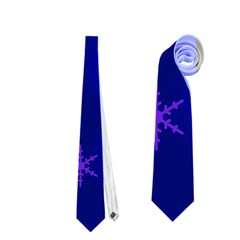 Blue Xmas Design Neckties (one Side)  by Valentinaart