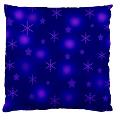 Blue Xmas Design Large Cushion Case (one Side) by Valentinaart