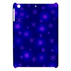 Blue Xmas Design Apple Ipad Mini Hardshell Case by Valentinaart