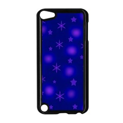 Blue Xmas Design Apple Ipod Touch 5 Case (black) by Valentinaart