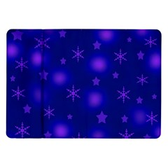 Blue Xmas Design Samsung Galaxy Tab 10 1  P7500 Flip Case by Valentinaart