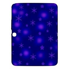 Blue Xmas design Samsung Galaxy Tab 3 (10.1 ) P5200 Hardshell Case  by Valentinaart