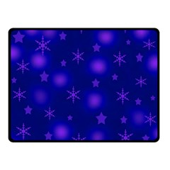 Blue Xmas Design Double Sided Fleece Blanket (small)  by Valentinaart
