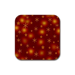 Xmas Design Rubber Square Coaster (4 Pack)  by Valentinaart