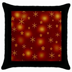 Xmas Design Throw Pillow Case (black) by Valentinaart