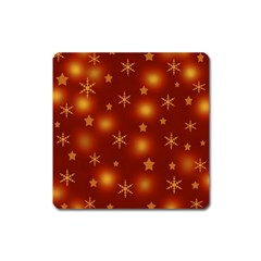 Xmas Design Square Magnet by Valentinaart