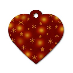 Xmas Design Dog Tag Heart (two Sides) by Valentinaart