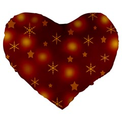 Xmas Design Large 19  Premium Heart Shape Cushions by Valentinaart