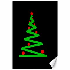 Simple Xmas Tree Canvas 24  X 36  by Valentinaart