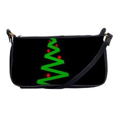 Simple Xmas Tree Shoulder Clutch Bags by Valentinaart