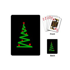 Simple Xmas Tree Playing Cards (mini)  by Valentinaart