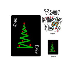 Simple Xmas Tree Playing Cards 54 (mini)  by Valentinaart