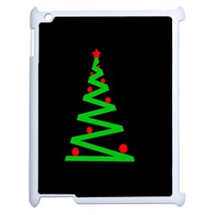Simple Xmas Tree Apple Ipad 2 Case (white) by Valentinaart
