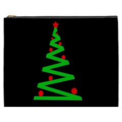Simple Xmas Tree Cosmetic Bag (xxxl)  by Valentinaart