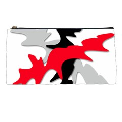 Gray, Red And Black Shape Pencil Cases by Valentinaart
