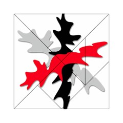 Gray, Red And Black Shape Acrylic Tangram Puzzle (6  X 6 ) by Valentinaart