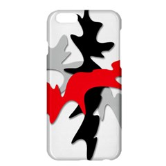 Gray, Red And Black Shape Apple Iphone 6 Plus/6s Plus Hardshell Case by Valentinaart