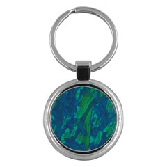 Green And Blue Design Key Chains (round)