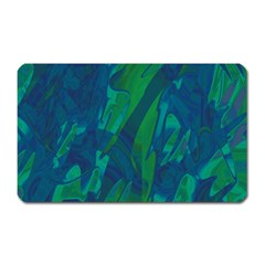Green And Blue Design Magnet (rectangular) by Valentinaart